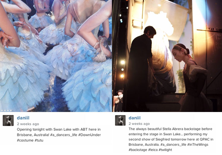 Daniil Simkin backstage. Swan Lake, American Ballet  Theatre (ABT) Australia tour review.