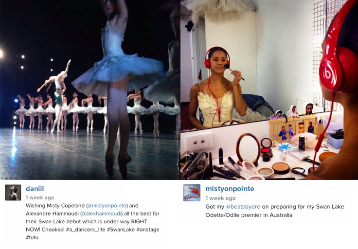 Misty Copeland backstage. Swan Lake, American Ballet  Theatre (ABT) Australia tour review.